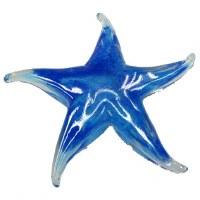 """5"""" Blue Glass Starfish Figurine"""