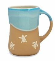 16 oz Light Blue and Tan Baby Turtles Stoneware Mug