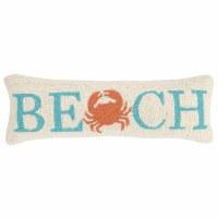 """8"""" x 24"""" Aqua and Orange Crab Beach Pillow"""
