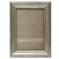 """4"""" x 6"""" Sutter Burnished Silver Picture Frame"""