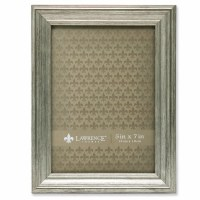 """5"""" x 7"""" Sutter Burnished Silver Picture Frame"""