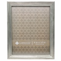 """8"""" x 10"""" Sutter Burnished Silver Picture Frame"""