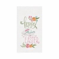 "27"" x 18"" Hoppy Easter Waffle Weave Kitchen Towel"