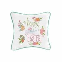 """10"""" Square Hoppy Easter Pillow"""