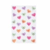 """27"""" x 18"""" Multicolor Conversation Hearts Flour Sack Kitchen Towel"""