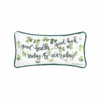 """6"""" x 12"""" Green Good Health Good Luck Pillow"""