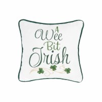"10"" Square Green A Wee Bit Irish Pillow"
