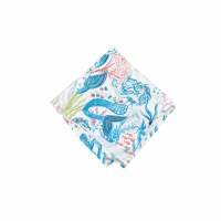 "18"" Square Blue Mermaid Garden Cloth Napkin"