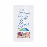 """27"""" x 18"""" Escape to the Beach Flour Sack Kitchen Towel"""