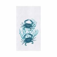 "27"" x 18"" Two Blue Crabs Flour Sack Kitchen Towel"
