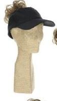 Black Swimwear Ponytail Baseball Cap
