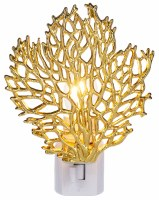 "5"" Gold Metal Coral Night Light"