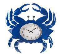 "27"" Bright Blue Crab Wall Clock"