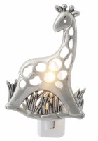 "5"" Silver Giraffe Night Light"