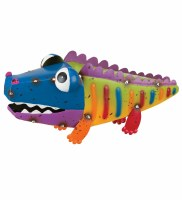 "12"" Multicolor Metal Alligator Garden Decor"