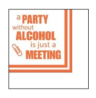 """5"""" Square Party Without Alcohol Beverage Napkin"""