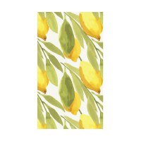 """5"""" x 8"""" Yellow and Green Lemons Guest Towels"""