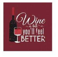 "5"" Square Burgundy Wine a Bit Beverage Napkins"