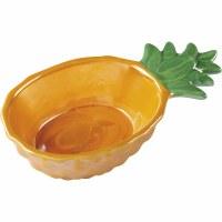 "8"" Yellow Ceramic Pineappple Bowl"