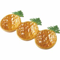 """10"""" Yellow Ceramic Triple Compartment Pineapple Tray"""