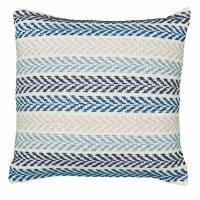 """18"""" Square Multicolor Blue Chevron Stripe Pillow"""