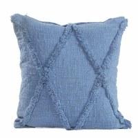 "18"" Square Coronet Blue ""X"" Pillow"