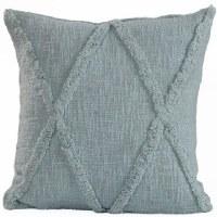 """18"""" Square Pastel Blue """"X"""" Pillow"""
