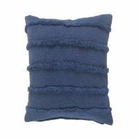 "20"" Square Deep Blue Raised Stripe Pillow"