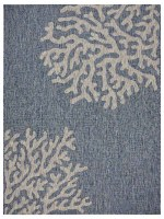 "5"" x 7"" Navy and Gray Coral Rug"
