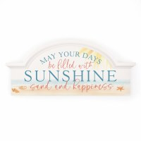 "14"" x 31"" Carved Header Days Filled With Sunshine Wall Plaque"