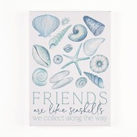 "7"" x 5"" Friend Are Like Seashells Canvas Wall Art"