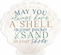 "11"" x 12"" A Shell in Your Pocket Shell Shaped Wall Plaque"