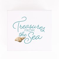 "6"" Square Treasures From the Sea Trinket Box"