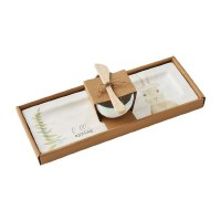 """5"""" x 13"""" Hello Spring Bunny Tray and Dip Set With Spreader"""