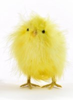 """5"""" Yellow Feather Chick Easter Decor"""
