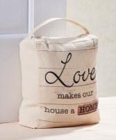"""9"""" Home Love Doorstop With Handle"""