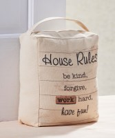 """9"""" House Rules Doorstop With Handle"""