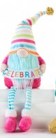 """20"""" Birthday Gnome With Striped Hat and Celebrate Sign"""