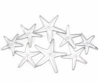 "29"" Gray Eight Starfish Openwork Metal Wall Plaque"