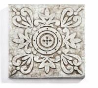 "10"" Square Galvanized Metal Circle Medallion Wall Plaque"