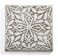 "10"" Square Galvanized Metal X Medallion Wall Plaque"