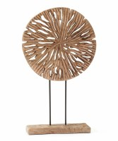 """20"""" Openwork Wood Disc on Stand"""