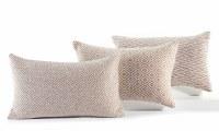 "12"" x 20"" Beige Diamond Geometric Pattern Pillow"