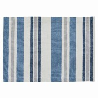 "13"" x 19"" Blue and White Striped Chiswell Placemat"