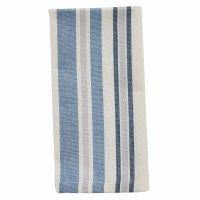 """18"""" Square Blue and White Striped Chiswell Cloth Napkin"""