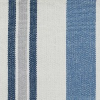 """13"""" x 54"""" Blue and White Striped Chiswell Table Runner"""