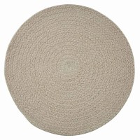 "15"" Round Beige Pebble Essex Placemat"