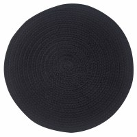 "15"" Round Black Essex Placemat"