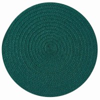 "15"" Round Teal Peacock Essex Placemat"