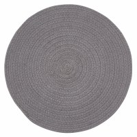 "15"" Round Gray Charcoal Essex Placemat"
